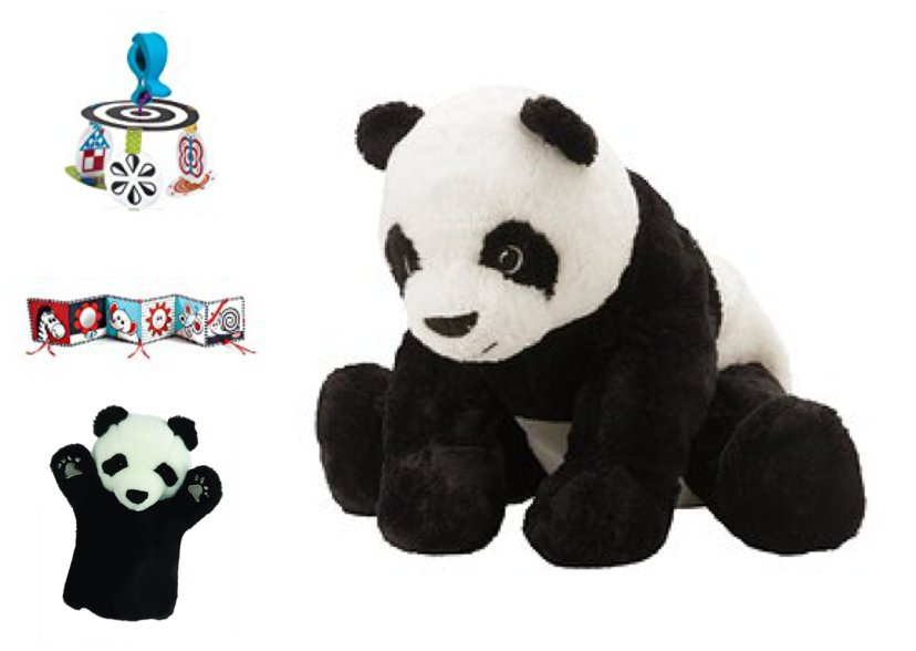 black and white baby toys