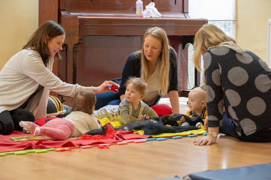 Sensory development classes for mums and babies