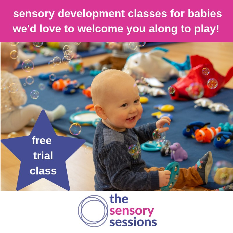 Complimentary trial class with The Sensory Sessions at Newlands in Glasgow sensory play baby