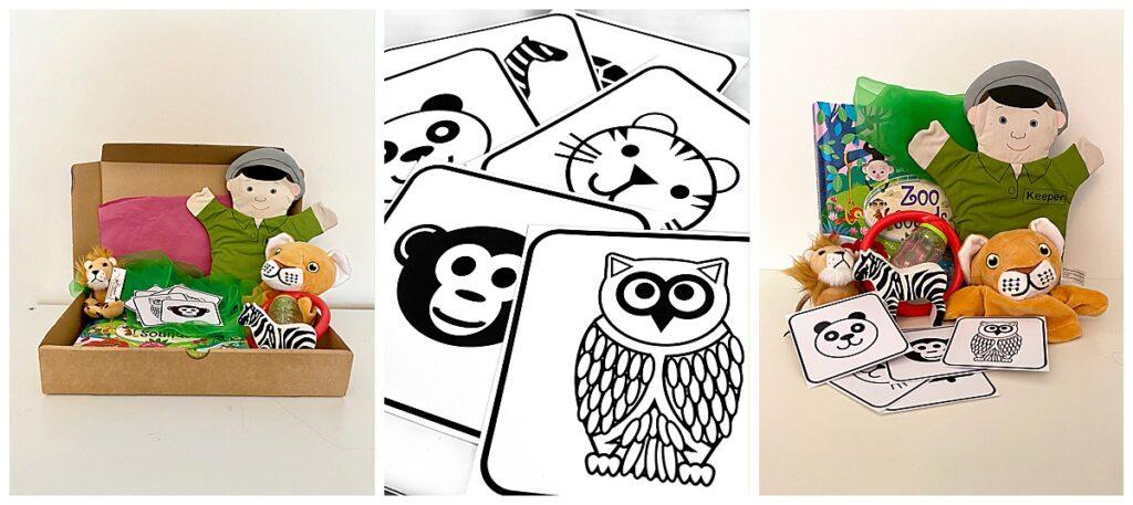 zoo themed sensory box